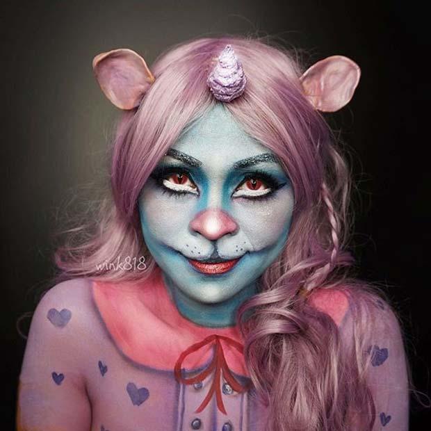 Unikitty for Cute Halloween Makeup Ideas