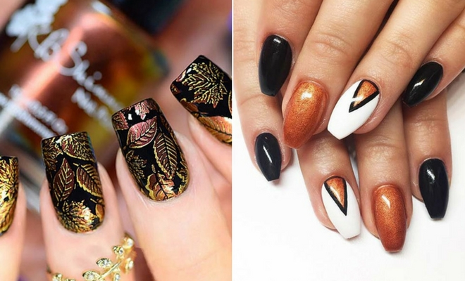 21 Trendy Fall Nail Design Ideas - 21 Trendy Fall Nail Design Ideas Page 2 Of 2 StayGlam