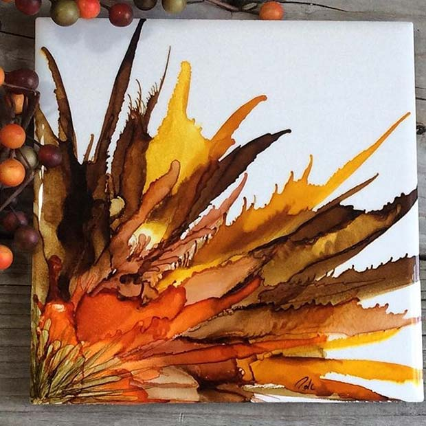 DIY Fall Painting for Fall Home Decor Ideas