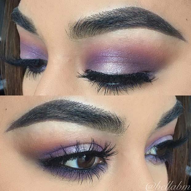 Pretty Purple Eye Makeup for Fall Makeup Looks