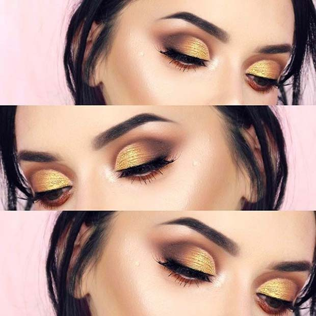 Soft Yellow for Fall Makeup Looks
