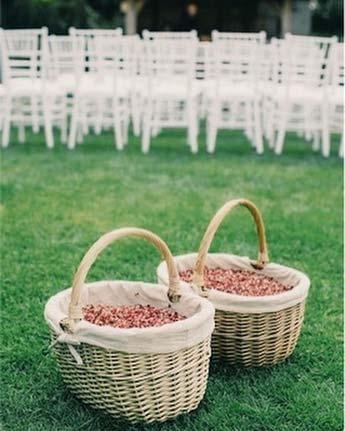 Confetti Baskets for Rustic Wedding Ideas