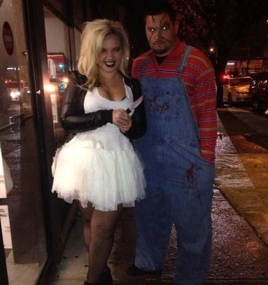 chucky and his bride for scary halloween costume ideas for couples