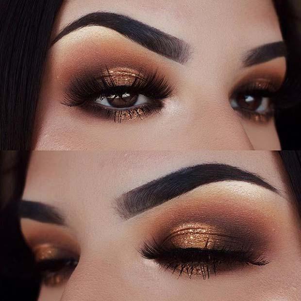 Glitter Smokey Eye for Fall Makeup