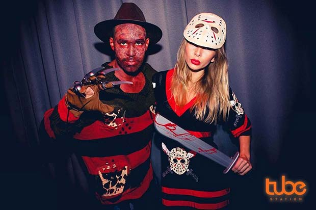 Killer Scary Couple for Scary Halloween Costume Ideas for Couples
