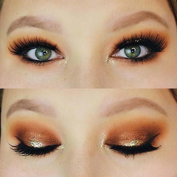 Pumpkin Spice Eye Makeup for Fall Makeup Looks