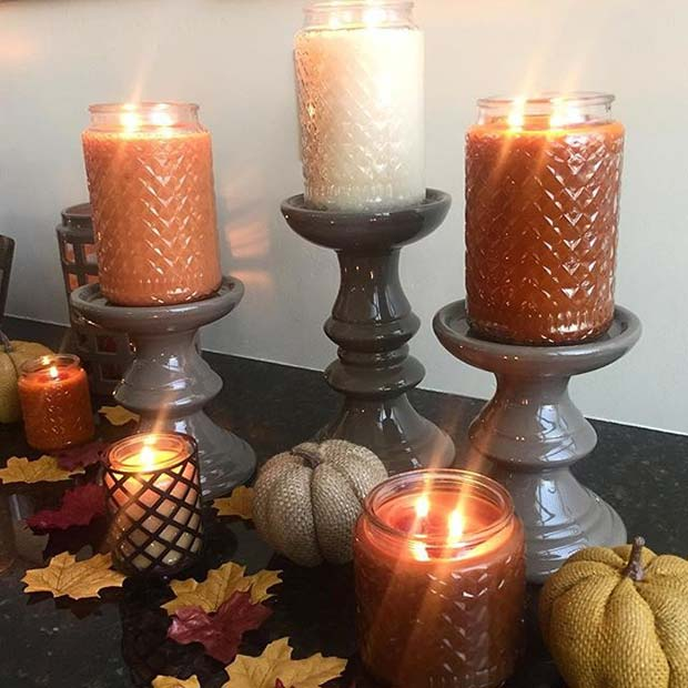 Fall Color Candles for Fall Home Decor Ideas