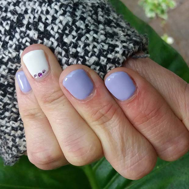 Cute Purple Nails for Simple Yet Eye-Catching Nail Designs