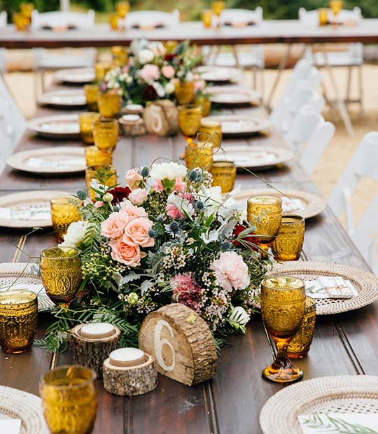Rustic Reception Tables for Rustic Wedding Ideas