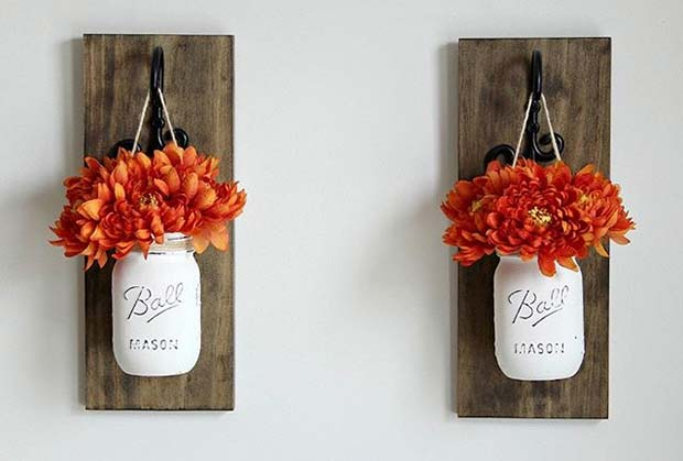 Jar Vases for Fall Home Decor Ideas