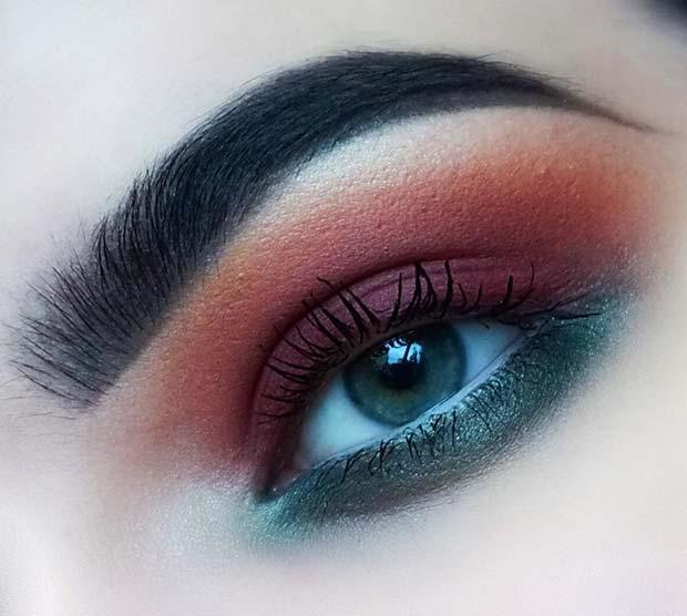 Autumnal Eye Makeup for Fall Makeup Looks