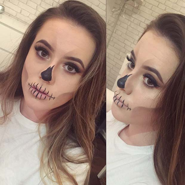 Spooky Skeleton Makeup for Easy, Last-Minute Halloween Makeup Looks
