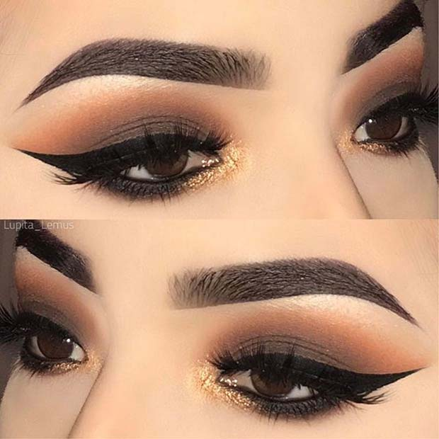 Dramatic Smokey Eyes for Fall Makeup Looks
