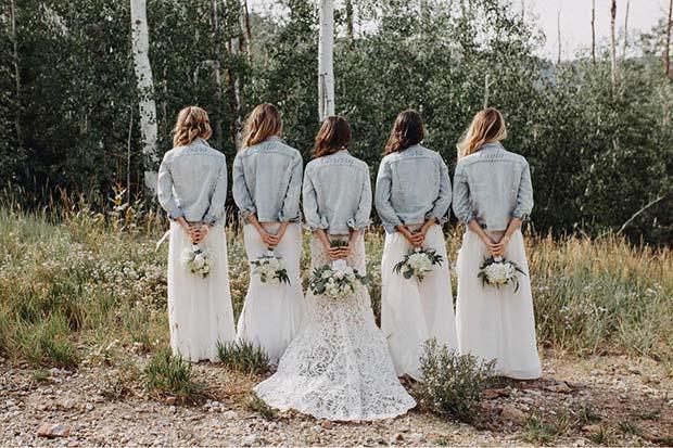 Bridal Wear and Denim for Rustic Wedding Ideas