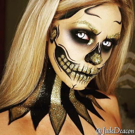 Glitter Skeleton for Skeleton Makeup Ideas for Halloween
