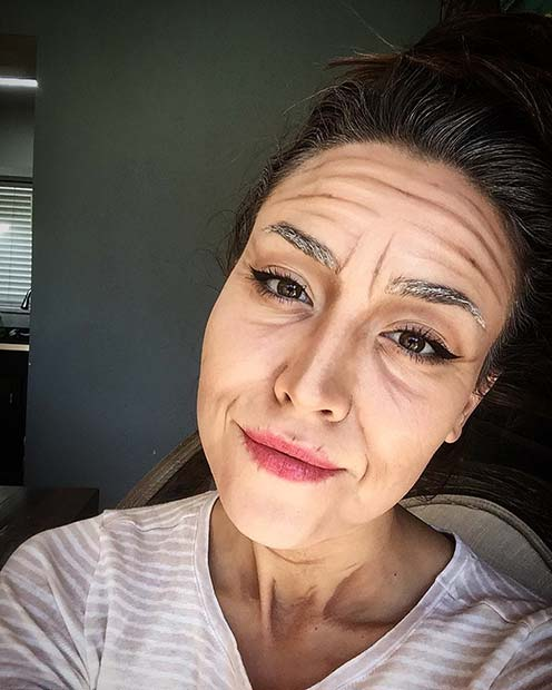 Old Age Makeup for Easy, Last-Minute Halloween Makeup Looks