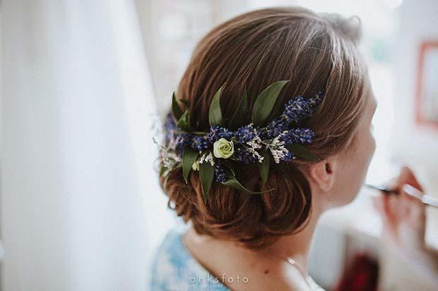 Floral Wedding Hair for Rustic Wedding Ideas