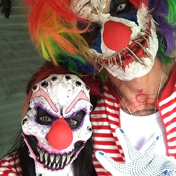 Scary Clowns for Scary Halloween Costume Ideas for Couple & Scary Halloween Costume Ideas for Couples | StayGlam