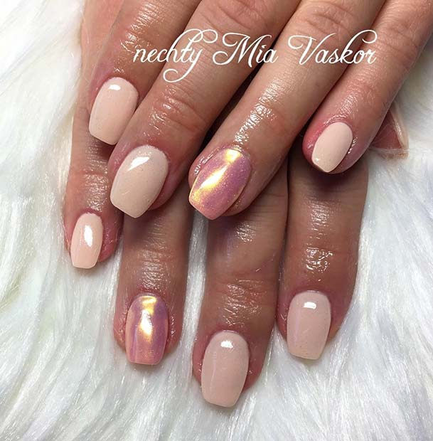 Stylish Pink Manicure for Simple Yet Eye-Catching Nail Designs