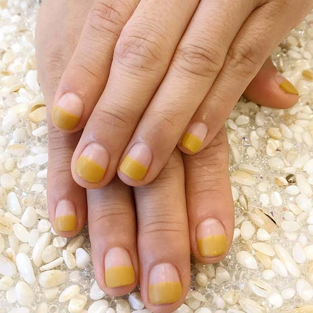 Funky Yellow Nails for Simple Yet Eye-Catching Nail Designs