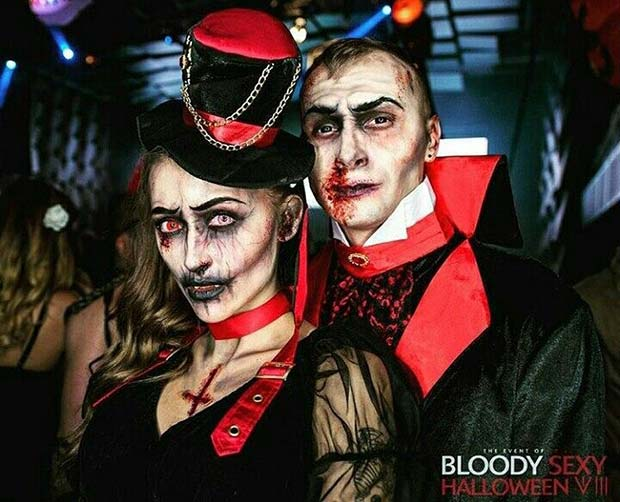 Vampire Couple Halloween Costumes.Scary Halloween Costume Ideas For Couples Page 2 Of 2 Stayglam