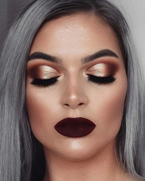 21 stunning fall makeup looks stayglam. Black Bedroom Furniture Sets. Home Design Ideas