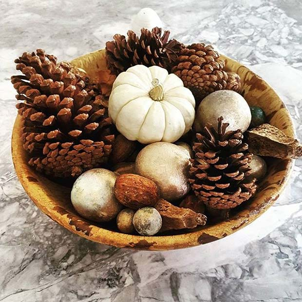 Fall Decorative Bowl for Fall Home Decor Ideas