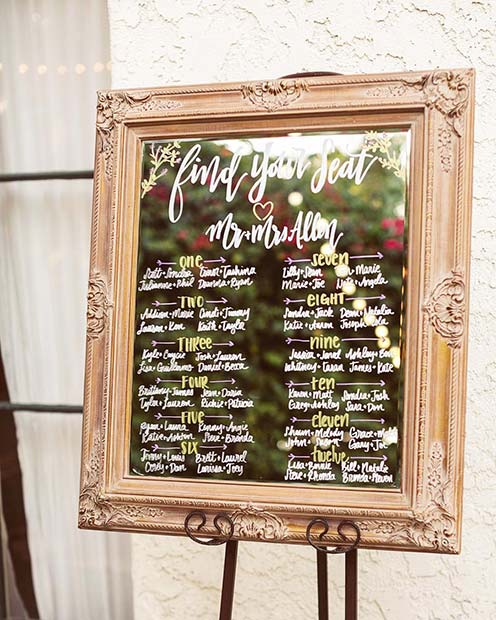 Creative Seating Chart for Rustic Wedding Ideas