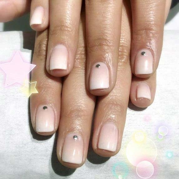 Silver Dot Nails for Simple Yet Eye-Catching Nail Designs