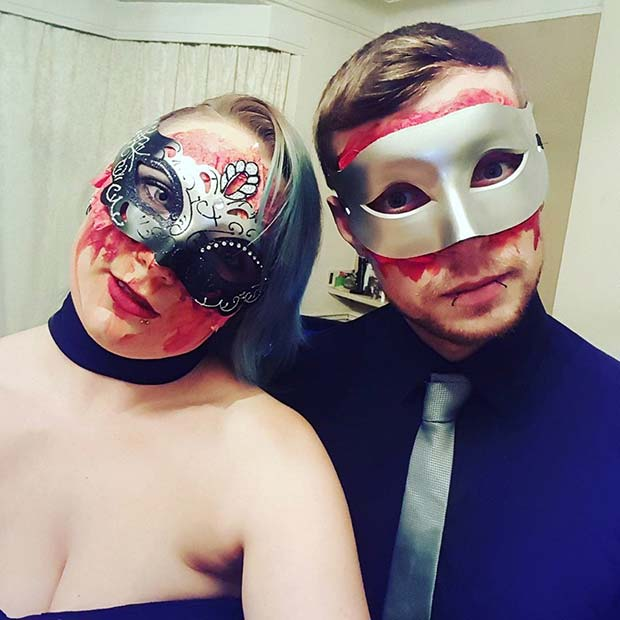 Halloween Masquerade for Scary Halloween Costume Ideas for Couples