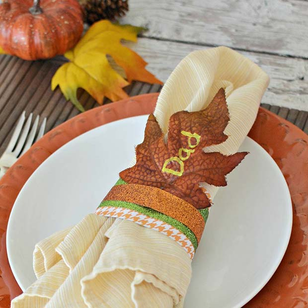 DIY Napkin Rings for Thanksgiving Crafts