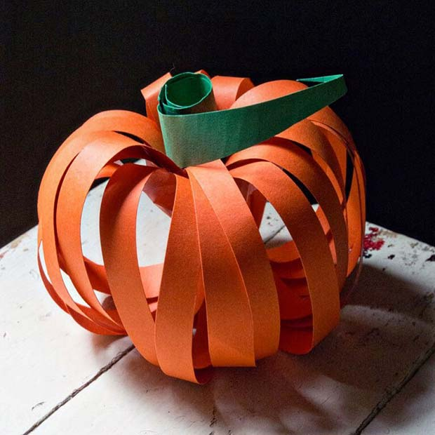 Paper Pumpkin Craft for Thanksgiving Crafts