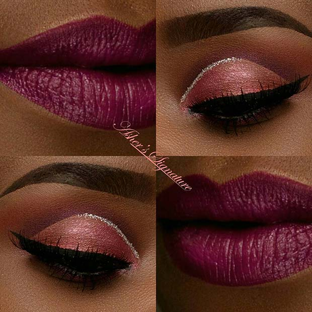Purple and Pink for Makeup Ideas for Thanksgiving Dinner