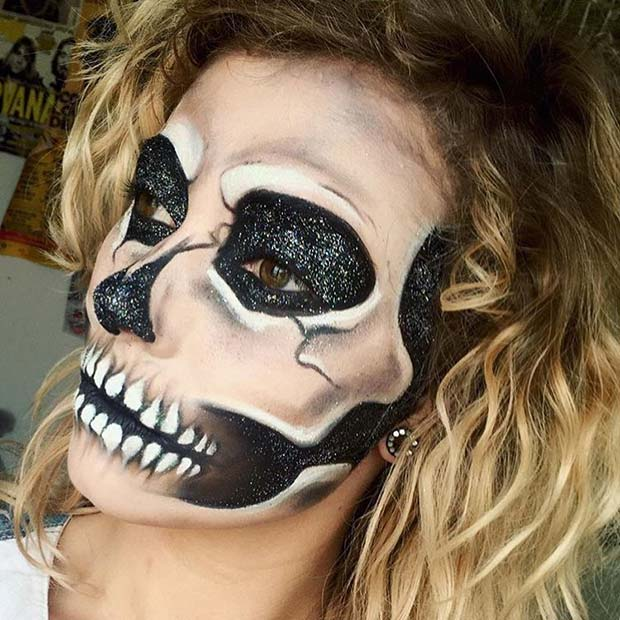 Spooky Halloween Skull Makeup for Unique Halloween Makeup Ideas to Try