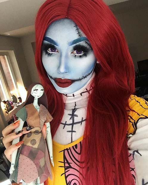 Sally Nightmare Before Christmas for Best Halloween Makeup Ideas