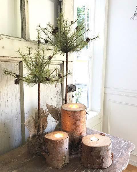 Winter Topiary Decor for Farmhouse Inspired Christmas Decor