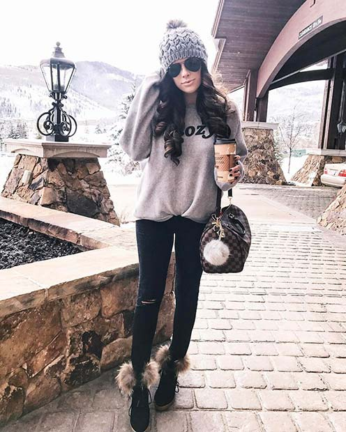 Cute and Cozy Winter Outfit Idea for Cute Outfits to Copy This Winter