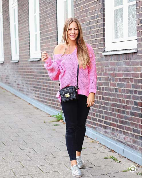Off the Shoulder Sweater for Cute Outfits to Copy This Winter