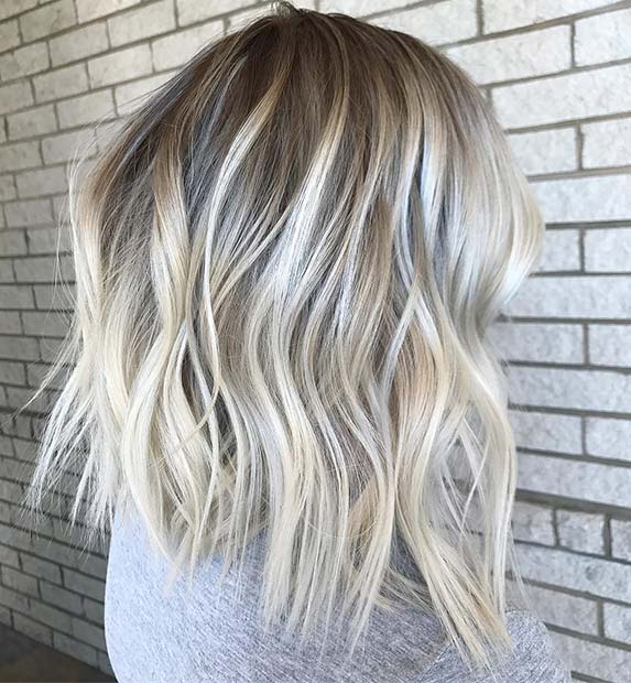 Ice Blonde Lob for Lob Hairstyles for Fall and Winter