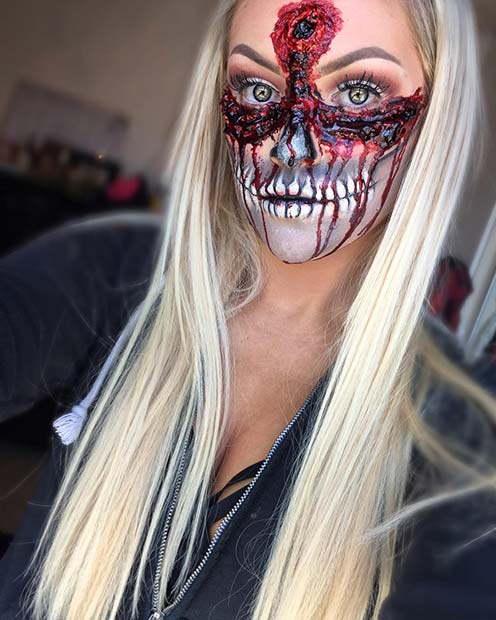 Gruesome Undead Makeup for Mind-Blowing Halloween Makeup Looks