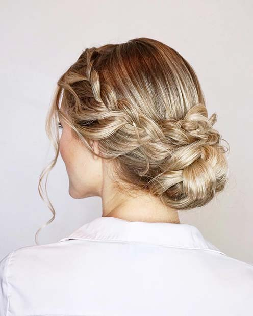 Romantic and Elegant Braided Updo for Beautiful Braided Updos