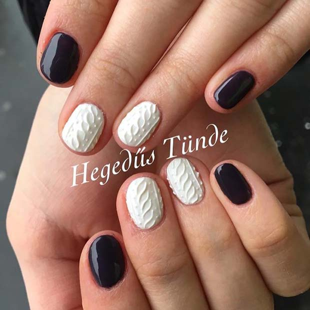 Winter Sweater Nail Art for Winter Nail Ideas