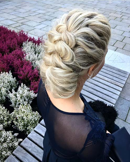 Chic and Stylish Braided Updo for Beautiful Braided Updos