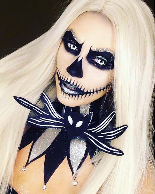 Nightmare Before Christmas Pumpkin Queen for Unique Halloween Makeup Ideas to Try