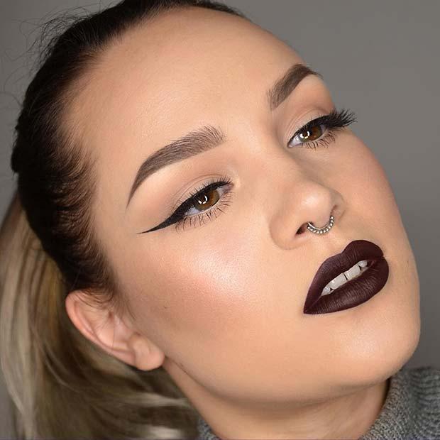 Autumnal Dark Makeup for Makeup Ideas for Thanksgiving Dinner