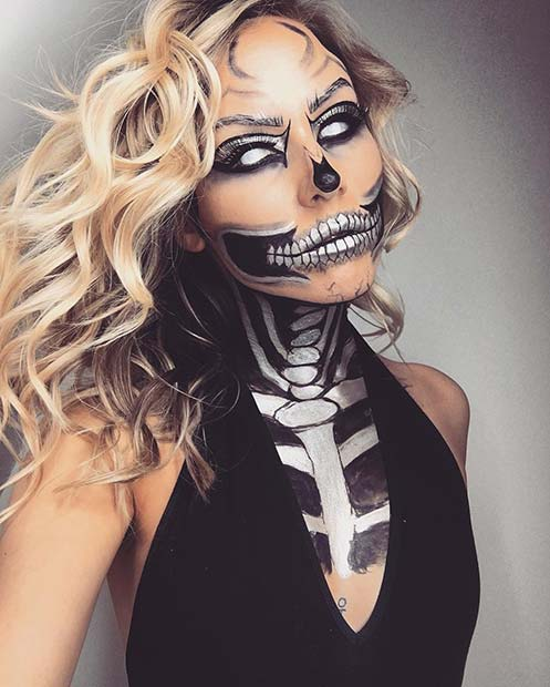 Scary Skeleton Makeup for Best Halloween Makeup Ideas