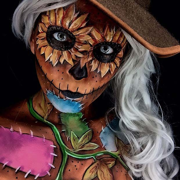 Scary Scarecrow for Mind-Blowing Halloween Makeup Looks