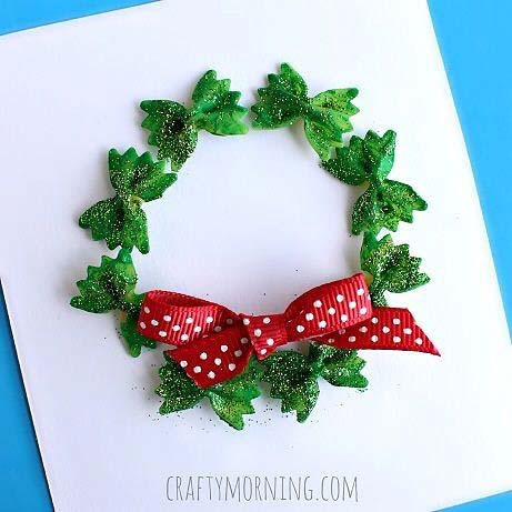 DIY Pasta Wreath for DIY Christmas Gift Ideas