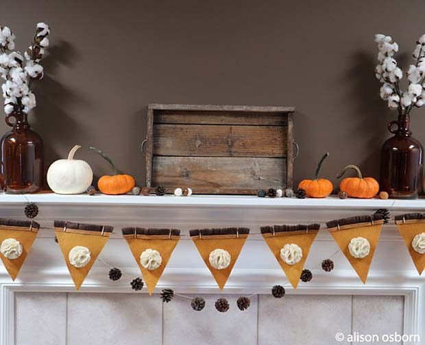 21 simple and creative thanksgiving decorations stayglam for Thanksgiving 2016 home decorations