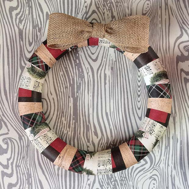 Country Inspired Wreath for Farmhouse Inspired Christmas Decor